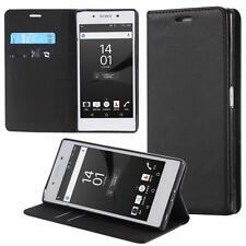 Funda-s Carcasa-s para Sony Xperia Z5 Libro Wallet Case-s bolsa Cover Negro