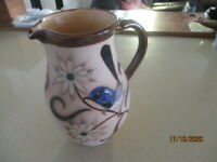 Large Pilliga Pottery  21cm Tall Jug  Blue Wren and Female Wren