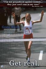 Grete Waitz GET REAL Premium Classic 1970s Women's Running POSTER Print