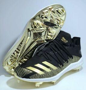 Adidas AfterBurner 6 Gold Metal Baseball Cleats Black Adizero G27657 Men Sz 9.5