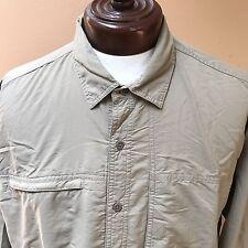 Mountain Hardwear Long Sleeved Fishing Hiking Shirt Greenish Brownish sz XL