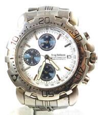 Gents Krug Baumen Sportsmaster Chronograph Watch Silver Tone Model 7186G