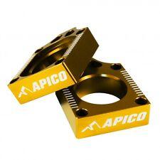 Apico REAR AXLE BLOCKS SUZUKI RM125 RM250 02-08 YELLOW