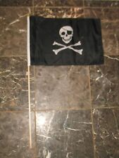 "12x18 12""x18"" Wholesale Lot of 3 Jolly Roger Pirate Eye Patch Stick Flag"