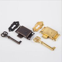 Retro Design Classical Drawer Cabinet Wardrobe Cupboard Door Lock + Key
