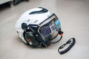 MX-02 PPG Helmet Visor Powered Paragliding Paramotor Headset GoPro Base White