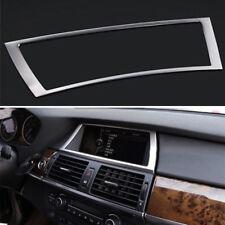 Interior Dashboard GPS Navigation trim cover 1pcs steel For BMW X5 E70 2009-2013