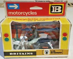 Britains - US Sheriff on Harley Davidson Motorcycle with Box 9692