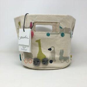 Youth Girl's Pehr Tidy Up Pom Pom Animal Bucket Bag, Size Mini - Cream/Multi