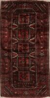 Antique Balouch Afghan Geometric Oriental Area Rug Wool Hand-Knotted 4x7 Carpet