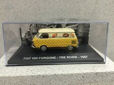 Car Miniature 1/43 Fiat 600 Van Tre Rossi 1957 Altaya Item New