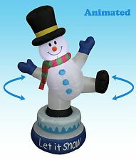 Christmas Animated Air Blown LED Inflatable Yard Garden Decoration Snowman Hat
