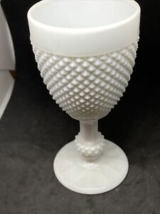 Vintage White Milk Glass Wine Goblet
