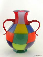 "RPM Studios / Harry Stuart Patchwork Motif ""Multi Brite Series"" Vase - Signed"