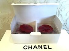 NEW PACK OF 10 PIECES CHANEL BIG DARK RED VELVET CAMELLIAS