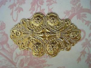 Large Raw Brass Ornate Victorian Stamping (1) - FF0404 Jewelry Finding