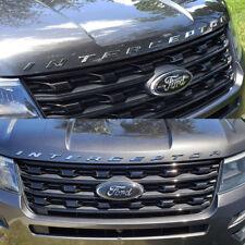11-19 Ford Police Interceptor Utility Lettering Hood Emblem Letters Matte Black