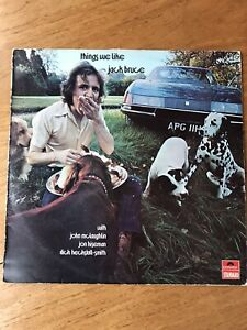 JACK BRUCE - Things We Like LP JAZZ ROCK vinyl 1970 UK Cream Clapton POLYDOR