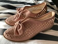 Pink Loafers With Bow Detail - Worn Once - Size 7