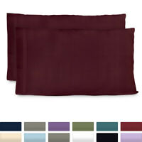 Premium Bamboo Pillowcase Set of 2 Ultra Soft Hypoallergenic Pillow Cases