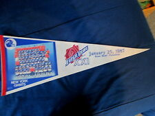 "1987 NFL  SUPER BOWL XXI  NEW YORK GIANTS   FELT  PENNANT 11 3/4""x29 3/4"""