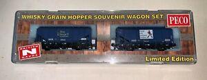 """PECO (NR-P501) Ltd Ed Pack of 2 35t Grain Bulk Hoppers """"J Walker"""" & """"George VI"""""""