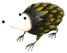 Hedgehog Garden Ornament HAND PAINTED! Figurine Statue Outdoors Patio Lawn Metal