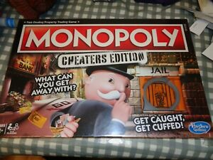 Monopoly Cheaters Edition Board Game,NEW,FREE P+P