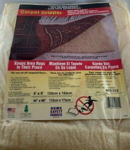 Carpet Gripper Cushion For Rug on Carpet 4' x 6' NEW
