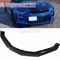 For Chevrolet Camaro 15-18 Carbon Fiber Look Front Bumper Lip Splitter