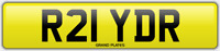 RYDER SURNAME NUMBER PLATE R21 YDR RYDERS RIDER CAR REG NO ADDED FEES RYDER REG