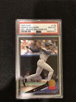 1993 Leaf Bernie Williams Error Card. PSA 10!! Population 1!!! Yankees