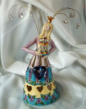 2004 Blue Sky Clayworks Goldminc Birthday Queen cake topper candle holder 000006Ae