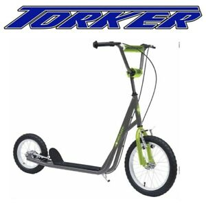 """Power Plant Scooter Green/Grey- 16""""/12"""""""