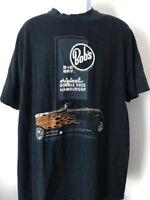 BOB'S BIG BOY T-shirt Black FITS L Hot Rod Men's tee Vintage Retro Classic 80s