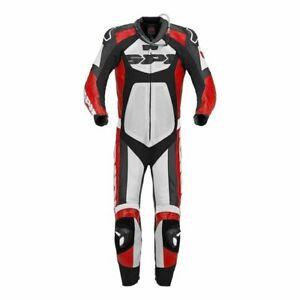 SPIDI TRONIK WIND PRO MENS MOTORCYCLE LEATHER SUIT BLACK RED WHITE UK 40 EU 50*