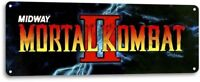 Mortal Kombat 2 Classic Midway Arcade Marquee Game Room Decor Metal Tin Sign