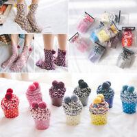 Women Winter Coral Velvet Socks Cozy Lounge Bed Socks Soft Fluffy Christmas Gift