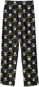 Pittsburgh Steelers NFL Boys Allover Print Lounge Sleep PJ Pants ~ NWT