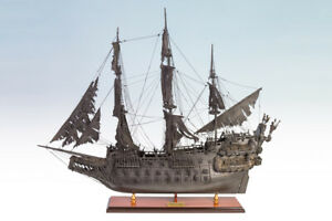 SEACRAFT GALLERY Flying Dutchman Model Painted Wooden Model Ghost Ship Boat 95cm