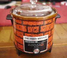 Vintage Hamilton Beach Scovill 449 Red Brick Crock Pot Watcher Slow Cooker 3 Qt