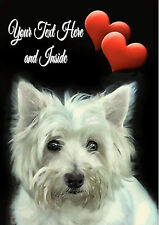 PERSONALISED WESTIE WESTHIGHLAND TERRIER BIRTHDAY FATHERS DAY CARD Illus Insert