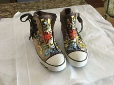 Ed Hardy Women's Tennis Shoe Huh Top Side Lace Up Size US 7