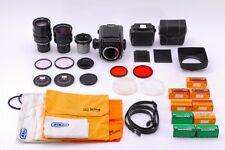 Zenza Bronica S2 Late Black w/Nikkor 50mm 75mm 200mm Lens set from Japan #102