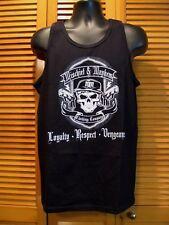 Muscle Shirt, Mischief & Mayhem, Skull, 2 Guns, Dressed to Kill, Size M, Black