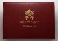 NL* Vaticano Sede Vacante 500 Lire Argento 1958 Senza Accento su Citta FDC set