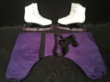 Don Jackson Glacier 350 Womens White Figure Ice Skates Sz 3 Blade Storage Covers