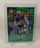 2020 Mosaic Football Ezekiel Elliott Got Game Green Prizm