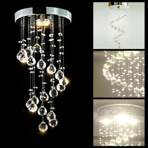 Modern Chrome Crystal LED Ceiling Light Lamps Fitting Pendant Chandelier 5336HC