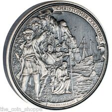 *SALE* CHRISTOPHER COLUMBUS - 2015 2 oz Silver Coin Journeys Of Discovery NIUE